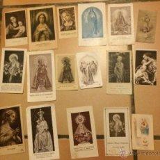 Postales: LOTE DE 17 ESTAMPAS RELIGIOSAS ANTIGUAS DE LA SANTA VIRGEN MARIA MADRE DE DIOS . ESTAMPA AÑOS 30-70. Lote 50223308