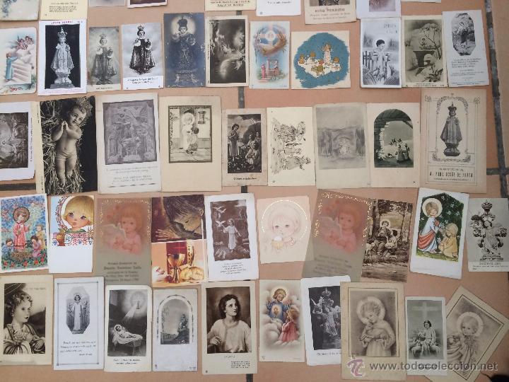 Postales: Lote de 50 estampas religiosas antiguas del niño jesús . santo cristo . estampa años 30-70 - Foto 3 - 50223343