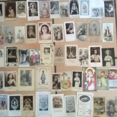 Postales: LOTE DE 50 ESTAMPAS RELIGIOSAS ANTIGUAS DEL NIÑO JESÚS . SANTO CRISTO . ESTAMPA AÑOS 30-70. Lote 50223348
