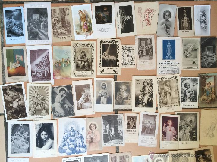 Postales: Lote de 50 estampas religiosas antiguas del niño jesús . santo cristo . estampa años 30-70 - Foto 2 - 50223352