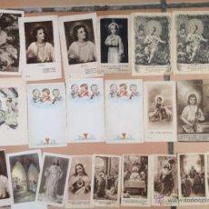 Postales: LOTE DE 20 ESTAMPAS RELIGIOSAS ANTIGUAS DEL NIÑO JESÚS . SANTO CRISTO JOVEN . ESTAMPA AÑOS 30-70. Lote 50223428