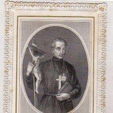 Postales: ESTAMPA PUNTILLA, SAINT PAUL DE LA CROIX, ORACIÓN EN EL REVERSO. NÚMERO 1520. Lote 50319903