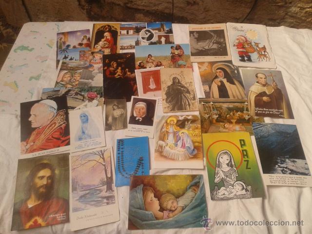 COLECCION 30 POSTALES RELIGIOSAS (Postales - Postales Temáticas - Religiosas y Recordatorios)
