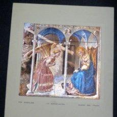 Postales: POSTAL LA ANUNCIACIÓN FRA ANGÉLICO MUSEO DEL PRADO AÑO 1961. Lote 50541937