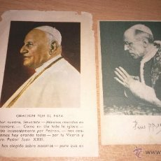 Postales: ESTAMPAS PAPA JUAN XXIII Y PAPA PIO XII. Lote 50576302