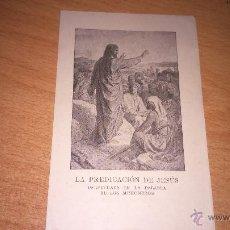 Postales: ESTAMPA LA PREDICACION DE JESUS. Lote 50576382