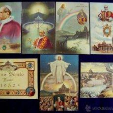 Postales: 7 POSTALES DE PIO XII, AÑO SANTO. 1950. Lote 50611793