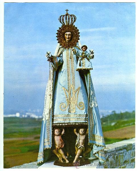 TARJETÓN DE 13.5 X 17.3 CMS. DE NTRA. SRA. DE PASTORIZA, LA CORUÑA, ESPAÑA. EXCELENTE CONSERVACIÓN. (Postales - Postales Temáticas - Religiosas y Recordatorios)