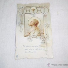 Cartes Postales: ESTAMPA RELIGIOSA TE ADORO SAGRADA HOSTIA,PAN VIVO Y ALIMENTO,,PUBLICIDAD CHOCOLATES SAN ANTONIO S. Lote 50754222
