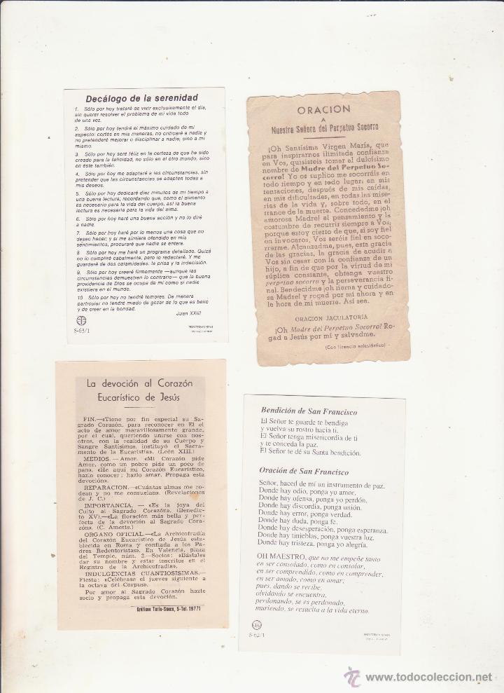 Postales: lote de 4 antiguas estampas religiosas - Foto 2 - 50874508