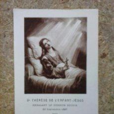 Postales: ESTAMPA DE SANTA TERESA (TERESITA) DEL NIÑO JESÚS. ESCENA DE SU ÚLTIMO SUSPIRO. LISIEUX, FRANCIA.. Lote 50936308