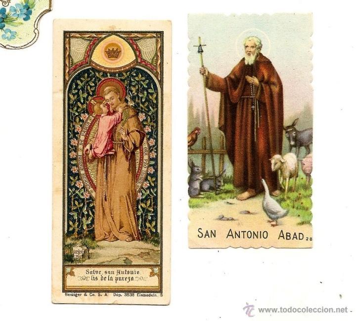 Postales: LOTE DE 5 RECORDATORIOS SANTOS - SAN IGNACIO, SAN ANTONIO PADUA, SAN ANTONIO ABAB Y CORAZÓN DE JESÚS - Foto 3 - 50965949