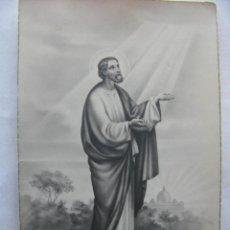 Postales: POSTAL ESTAMPA RELIGIOSA CALIDAD FOTOGRÁFICA ANTIGUA SANCTUS PETRUS. NRO. 211 13,7 X 8,5 CM.. Lote 51014747