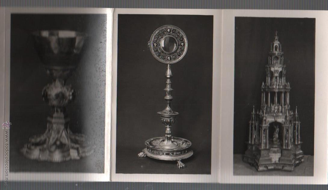 Postales: BLOCK POSTALES DE CUSTODIAS CAPILLA COPON - RELIQUIA - EXPO, NACN. DE ARTE EUCARISTICO ANTIGUO 1952 - Foto 4 - 51251941