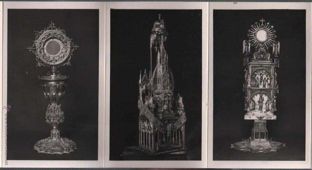 Postales: BLOCK POSTALES DE CUSTODIAS CAPILLA COPON - RELIQUIA - EXPO, NACN. DE ARTE EUCARISTICO ANTIGUO 1952 - Foto 5 - 51251941