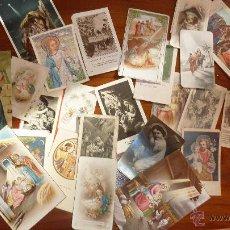 Postales: LOTE MAS DE 20 RECORDATORIO ESTAMPAS ANTIGUAS , AÑOS 20 , 40 ... SAGRADA FAMILIA , VIRGEN JESUS ... Lote 51344255