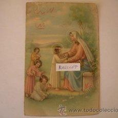 Postales: MAGNIFICA POSTAL ANTIGUA - DE LA VIRGEN , RECIBIEENDO ALAS NIÑAS EN SUS BRAZOS DE LOS AÑOS 40 -. Lote 51389914