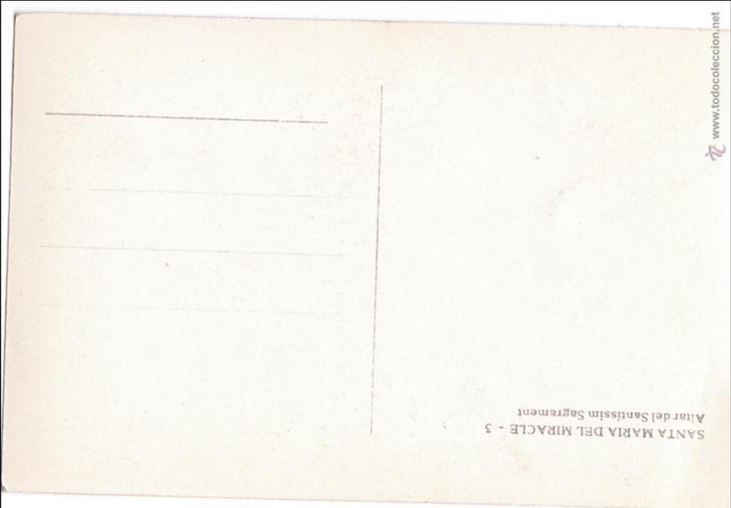 Postales: P- 2505. POSTAL DE STA. MARIA DEL MIRACLE. - Foto 2 - 51419667