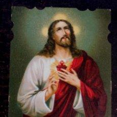 Postales: ESTAMPA RELIGIOSA TROQUELADA SAGRADO CORAZÓN DE JESÚS. Lote 51424031