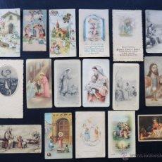 Postales: 17 RECORDATORIOS AÑOS 40-50 / LA MAYORIA DE OLOT - GIRONA. Lote 51455577