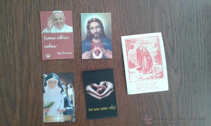 LOTE DE 5 ESTAMPAS RELIGIOSAS (Postales - Postales Temáticas - Religiosas y Recordatorios)