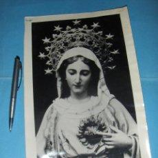 Postales: OH DULCE CORAZON DE MARIA, SED LA SALVACION MIA. GRAN FOTOGRAFIA, VIRGEN.. Lote 51554870