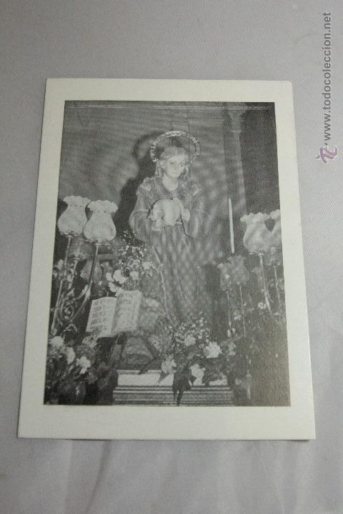 ESTAMPA SANTA MARIA MAGDALENA, CON GOZOS. BAÑERES, ALICANTE (Postales - Postales Temáticas - Religiosas y Recordatorios)