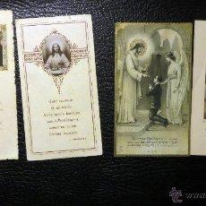 Postales: 4 RECORDATORIOS DE PRIMERA COMUNION DEL DECENIO DE 1920. VER FOTOGRAFIA REVERSO. Lote 51633015