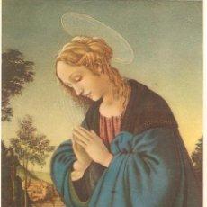 Postales: ITALIA, VIRGEN DE LA ADORACION, SIN CIRCULAR. Lote 51890323