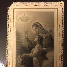 Postales: ESTAMPA RELIGIOSA TROQUELADA ORIGEN FRANCIA. PRINCIPIOS DE S. XX. VER FOTO. Lote 52159340