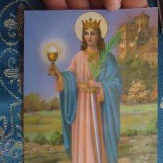 Postales: POSTAL RELIGIOSA O SEMANA SANTA - SANTA BARBARA. Lote 52289665