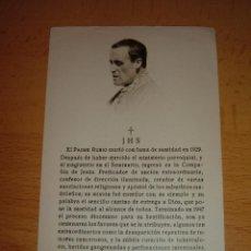 Postales: RECORDATORIO PADRE RUBIO. Lote 52309741