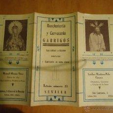Postales: SEMANA SANTA SEVILLA 1941 ITINERARIO SEMANA SANTA PORTADA VIRGEN DE LA AMARGURA CRISTO DEL SILENCIO. Lote 52337735