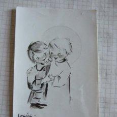 Postales: ESTAMPA RECORDATORIO COMUNION - 1970 - MALAGA. Lote 52415306