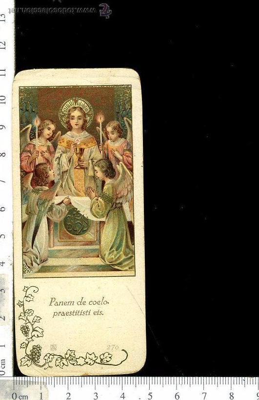 ESTAMPA RELIGIOSA RECORDATORIO DE PRIMERA COMUNIÓN AÑO 1931 (Postales - Postales Temáticas - Religiosas y Recordatorios)