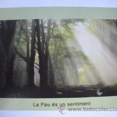 Postales: MAGNIFICA POSTAL PARA UNA CONFERENCIA EN MATARO SOBRE LA PAZ INTERIOR -. Lote 52756251