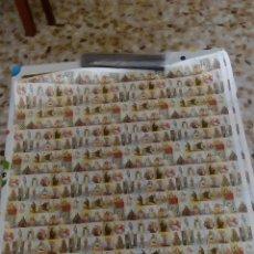 Postales: LAMINA ANTIGUA DE 528 MINI ESTAMPAS RELIGIOSAS SIN CORTAR, 88 CMS. DE ALTO X 56 DE LARGO. Lote 52853018