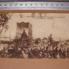 Postales: SEMANA SANTA. MALAGA. VIRGEN DE LOS DOLORES AL PASO POR PERCHEL ORIGINAL SIN CIRCULAR. Lote 53186507