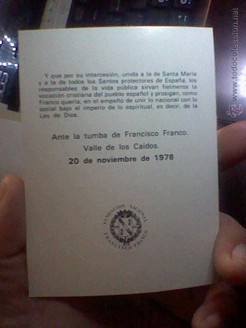 Postales: recordatorio 1978 muerte Francisco Franco Valle Caídos caudillo diptico - Foto 2 - 53201018