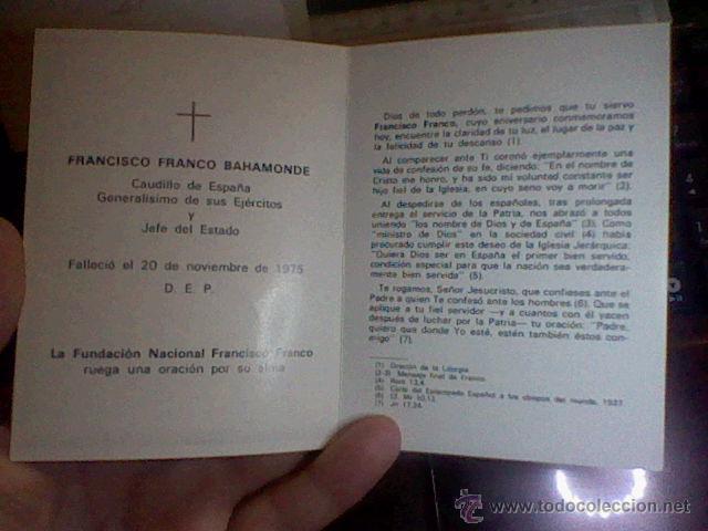 Postales: recordatorio 1978 muerte Francisco Franco Valle Caídos caudillo diptico - Foto 3 - 53201018
