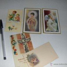 Postales: 5 ESTAMPAS O TARJETAS DE PRIMERA COMUNION.. Lote 53261762