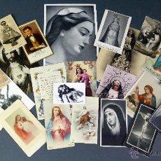 Postales: 23 ESTAMPAS RELIGIOSAS VIRGEN MARÍA CRISTO SAGRADO CORAZÓN JESÚS DECESOS RECORDATORIO AÑOS 30 - 60. Lote 53334262