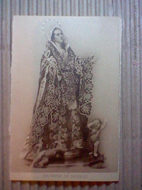 DOLOROSA SALCILLO MURCIA PASO SEMANA SANTA S/Nº ED SUCESORES NOGUES S/C . (Postales - Postales Temáticas - Religiosas y Recordatorios)
