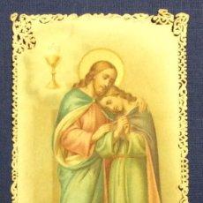 Postales: OH JESUS DESEO DESCANSAR CON SAN JUAN.... ESTAMPA RELIGIOSA. PUNTILLA.. Lote 53514210
