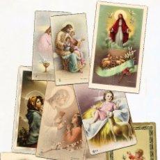 Postales: CASTALLA (ALICANTE) - LOTE DE 10 RECORDATORIOS DE COMUNIÓN DE LA LOCALIDAD DIFERENTES AÑOS 50. Lote 53569718