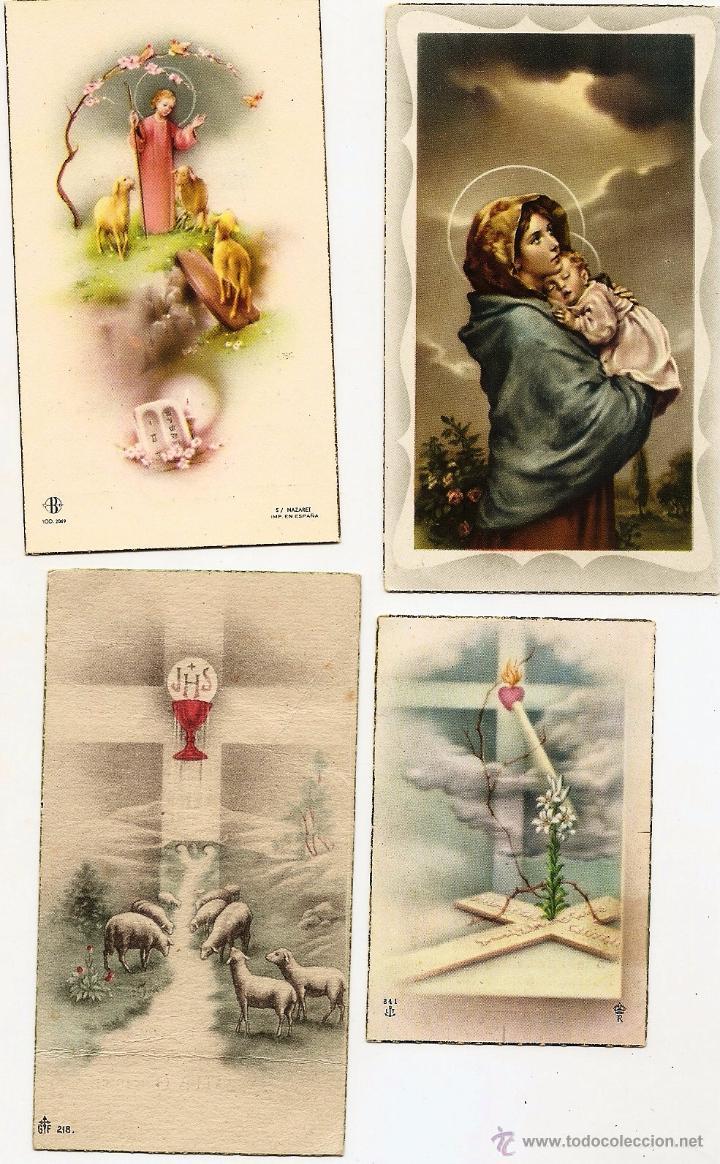 Postales: CASTALLA (ALICANTE) - LOTE DE 10 RECORDATORIOS DE COMUNIÓN DE LA LOCALIDAD DIFERENTES AÑOS 50 - Foto 4 - 53569718