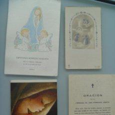 Postales: LOTE DE 4 ESTAMPAS Y RECORDATORIOS , EL MAS ANTIGUO DE 1951. Lote 53895798