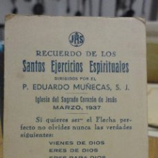Postales: RECUERDO EJERCICIOS ESPIRITUALES.EDUARDO MUÑECAS.IGLESIA SAGRADO CORAZON.SEVILLA.1937. Lote 54275783