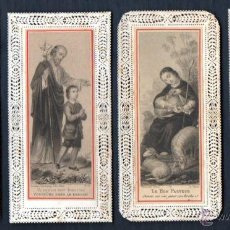 Postales: CUATRO ESTAMPAS CALADAS CORPUS CRISTI, BUEN PASTOR, SAN JOSÉ, DULCE VOZ DE JESÚS. Lote 54427706