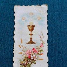 Postales: PEDIDO MINIMO 5 ESTAMPAS ANTIGUA ESTAMPA 1897 - COMUNIÓN - TROQUEL. Lote 54552765